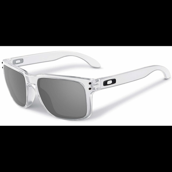 5914248da09bd Men s clear Oakley sunglasses with black accents. M 5ad79c6b46aa7c8c71e8ef90